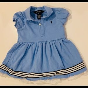 Ralph Lauren Baby Polo Dress with Lace Trim